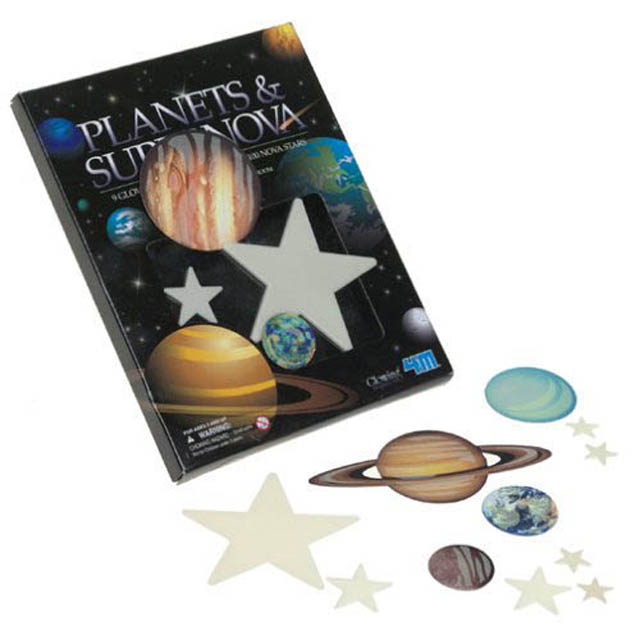 7061-DF1 GLOW-IN-THE-DARK PLANETS & SUPER