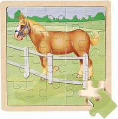 7511-AB2 JIGSAW PUZZLE HORSE 7.5X7.5