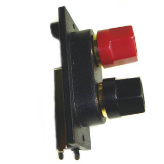 ATEA-4123 SPEAKER TERM 2POS RECT RED/BLK