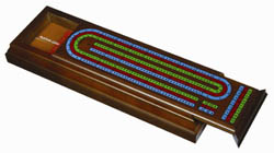 6585-DH1 CRIBBAGE BOARD CASE WITH PLAYING