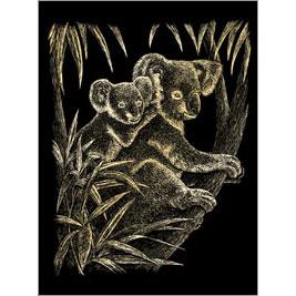 5511-BD6 GOLD ENGRAVING KOALA BEARS