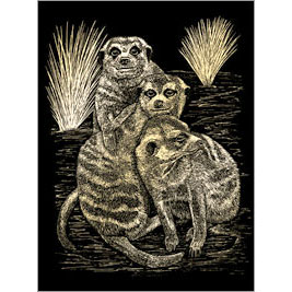 5511-BD8 GOLD ENGRAVING MEER CATS