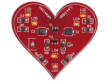 2032-AC1 FLASHING LED HEART SMD