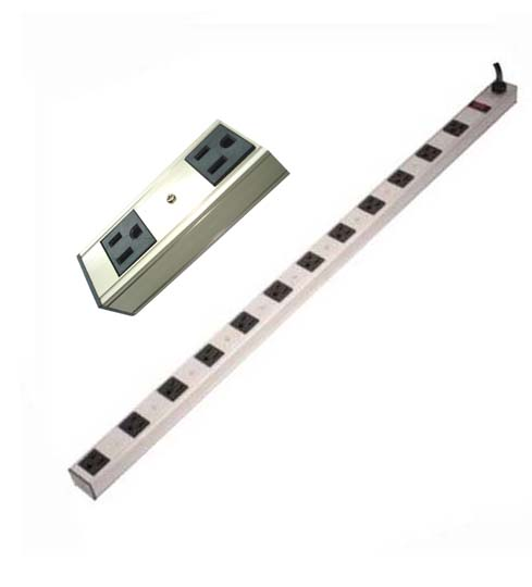 PSJ-1295-1 POWER BAR 10 O/LET VERT 15A/120