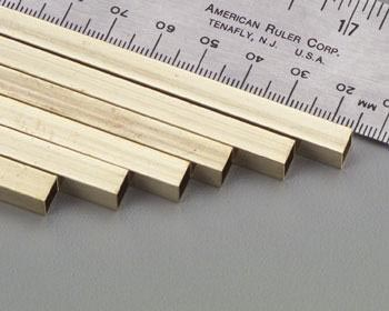 6011-EB1-2 SQUARE BRASS TUBES 1/16X1/16IN
