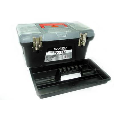 TRWA-6104YY TOOL BOX PLASTIC EMPTY 16IN BLK